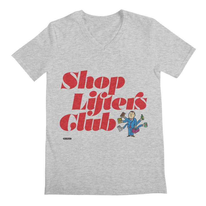Shoplifters Club Code Red Men's Regular V-Neck by DRAWMARK