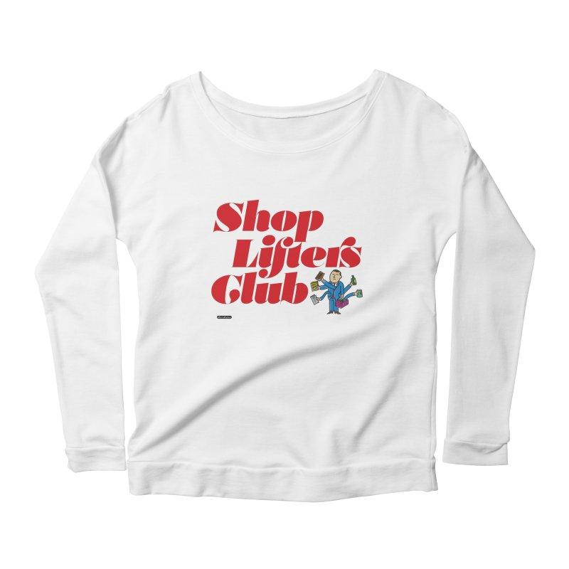 Shoplifters Club Code Red Women's Scoop Neck Longsleeve T-Shirt by DRAWMARK
