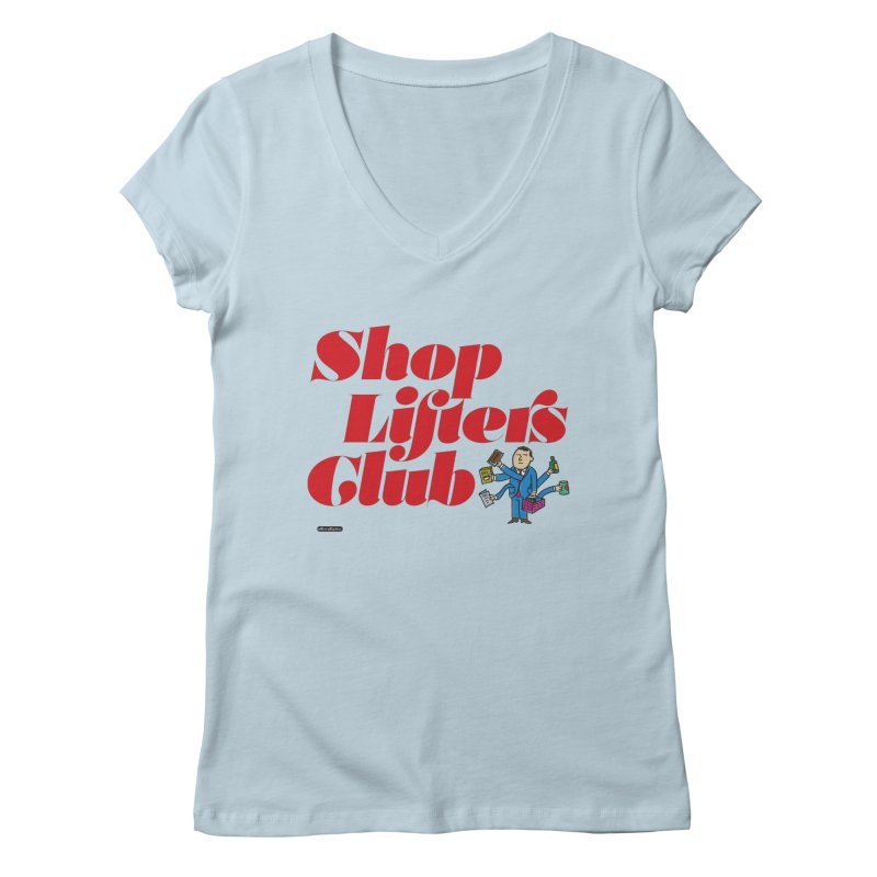Shoplifters Club Code Red Women's Regular V-Neck by DRAWMARK