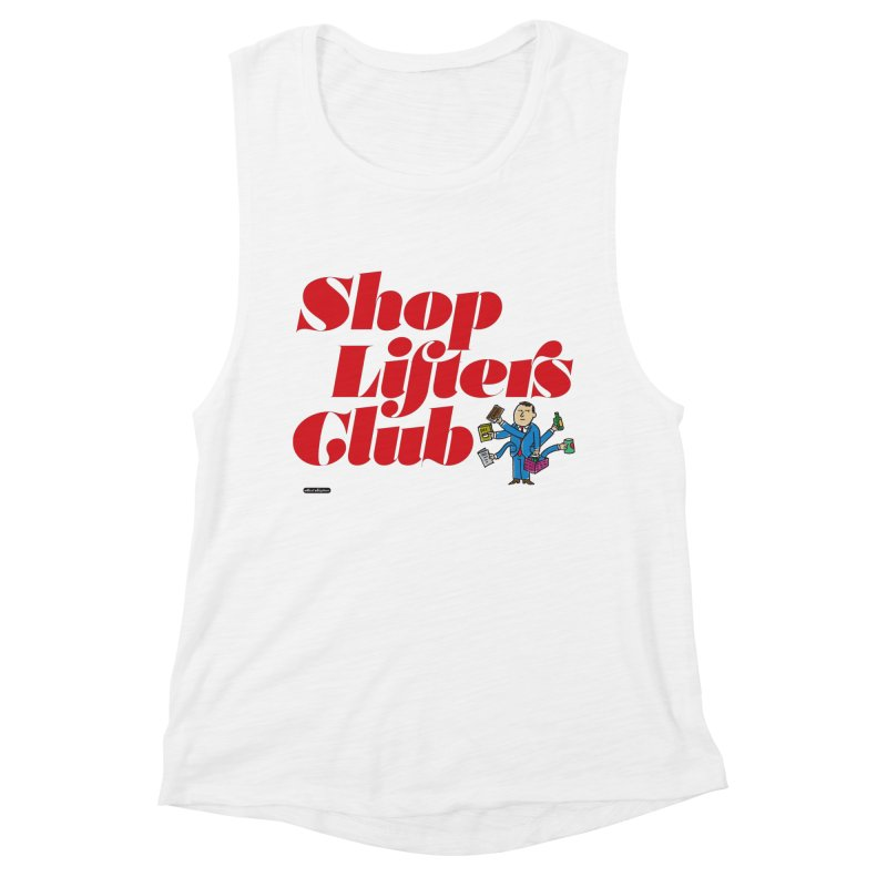 Shoplifters Club Code Red Women's Muscle Tank by DRAWMARK