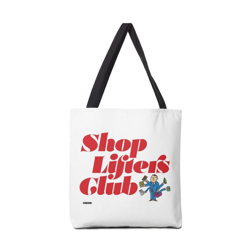 Shoplifters Club Code Red Accessories Tote Bag Bag by DRAWMARK