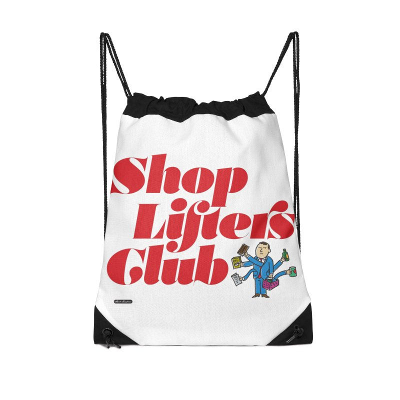 Shoplifters Club Code Red Accessories Drawstring Bag Bag by DRAWMARK