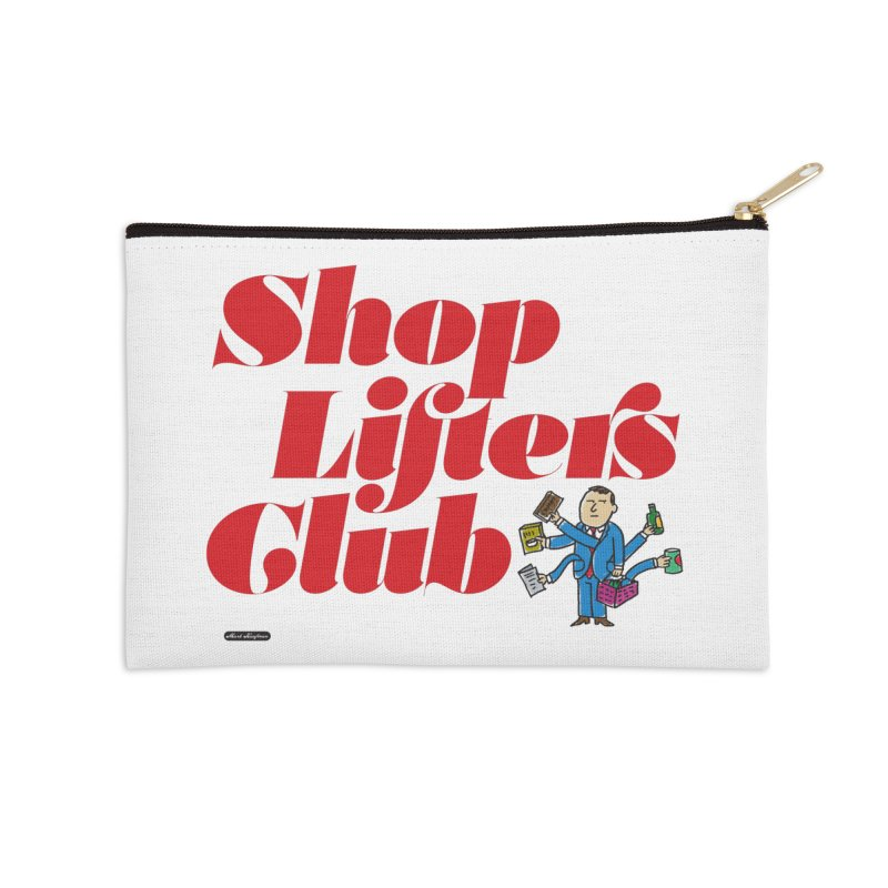 Shoplifters Club Code Red Accessories Zip Pouch by DRAWMARK