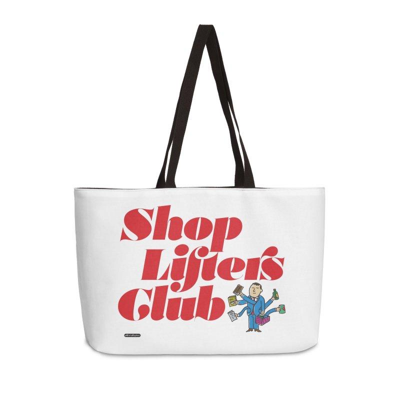 Shoplifters Club Code Red Accessories Weekender Bag Bag by DRAWMARK