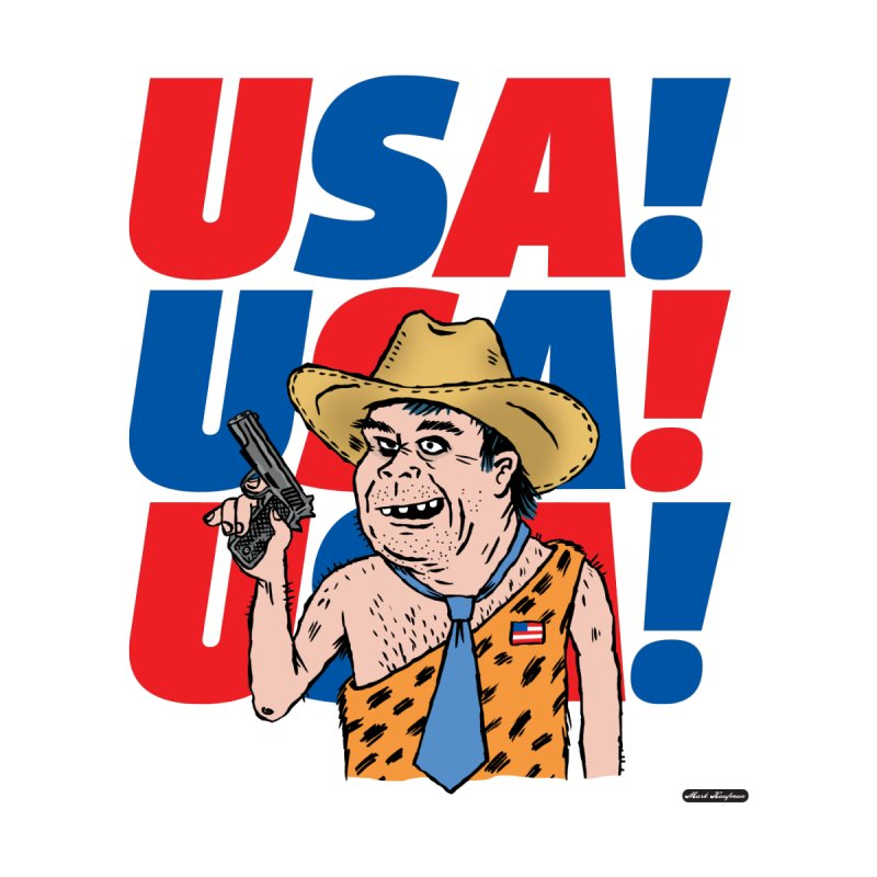 USA! USA! USA! Men's T-Shirt by DRAWMARK