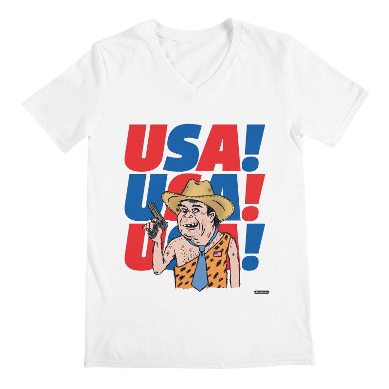 USA! USA! USA! Men's V-Neck by DRAWMARK