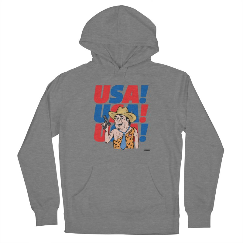 USA! USA! USA! Men's French Terry Pullover Hoody by DRAWMARK