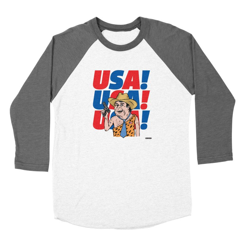 USA! USA! USA! Women's Longsleeve T-Shirt by DRAWMARK