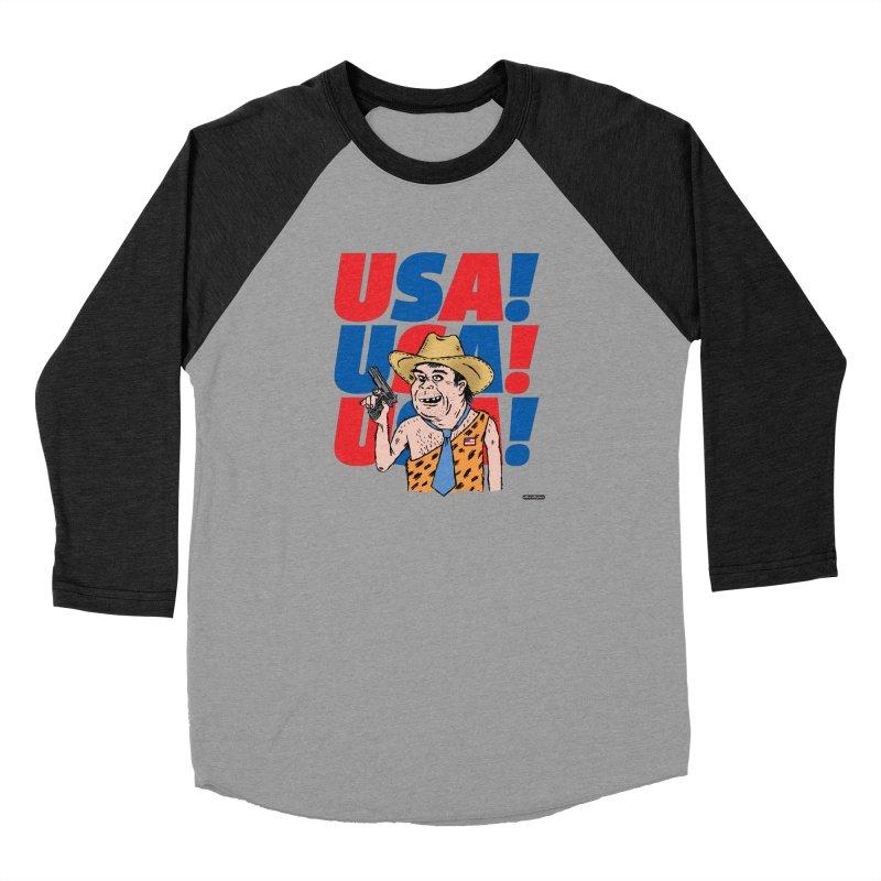 USA! USA! USA! Men's Baseball Triblend Longsleeve T-Shirt by DRAWMARK