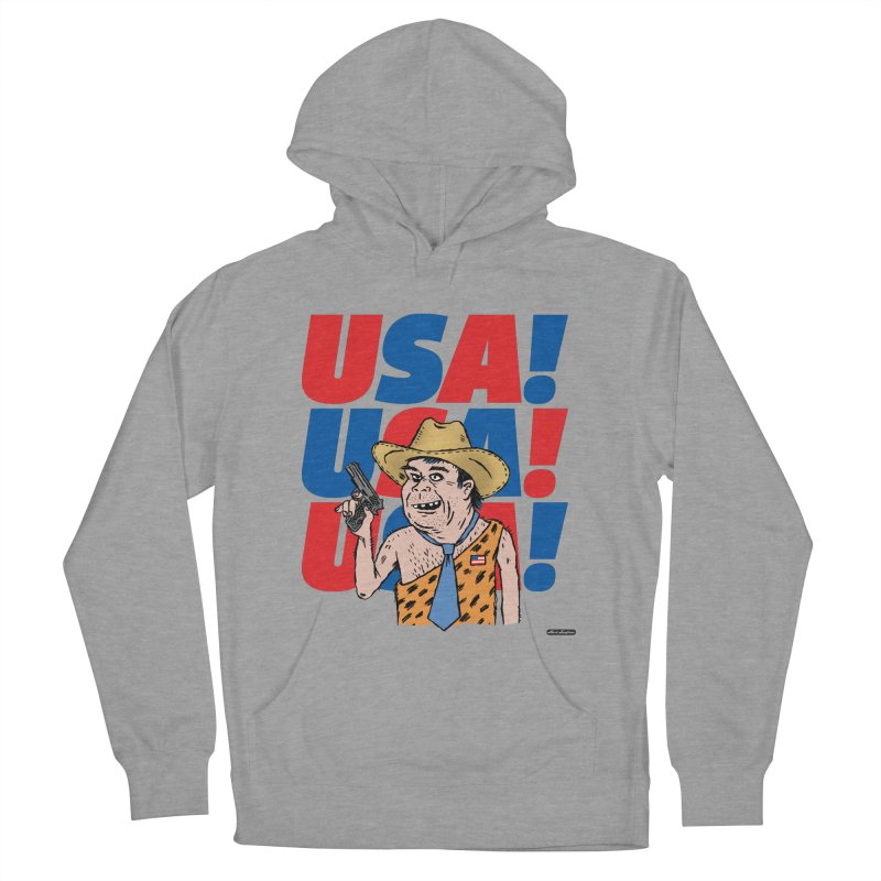 USA! USA! USA! Women's French Terry Pullover Hoody by DRAWMARK