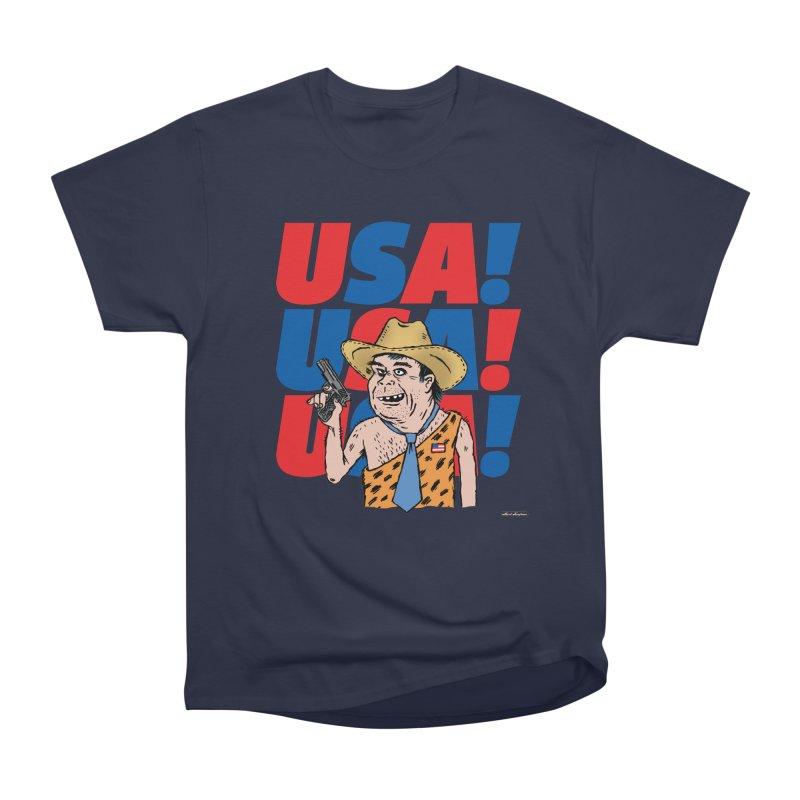 USA! USA! USA! Women's Heavyweight Unisex T-Shirt by DRAWMARK