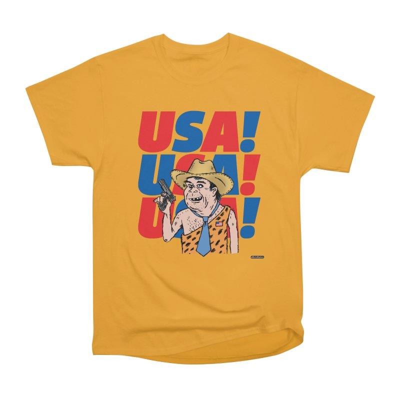 USA! USA! USA! Men's Heavyweight T-Shirt by DRAWMARK