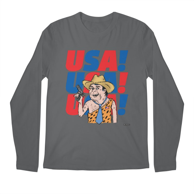 USA! USA! USA! Men's Regular Longsleeve T-Shirt by DRAWMARK