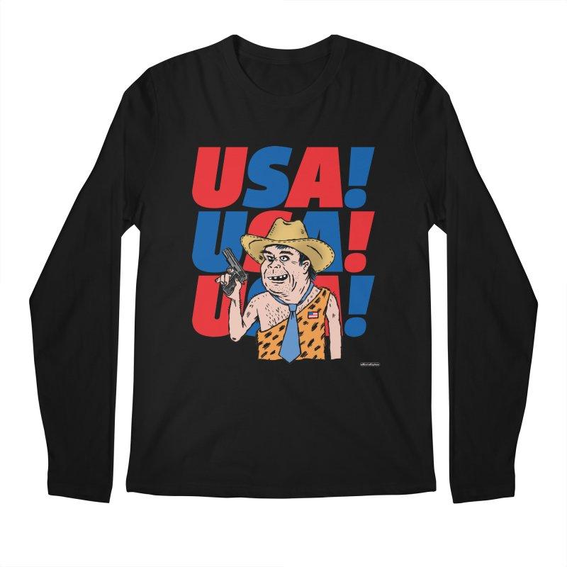 USA! USA! USA! Men's Regular Longsleeve T-Shirt by DRAWMARK