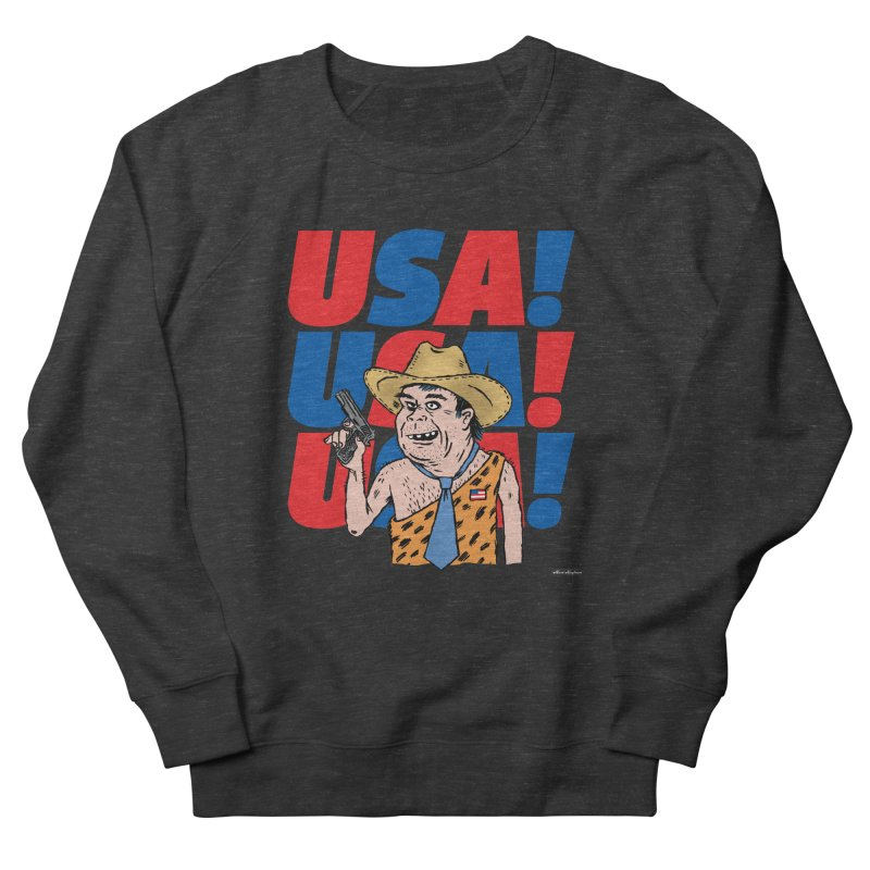 USA! USA! USA! Men's French Terry Sweatshirt by DRAWMARK