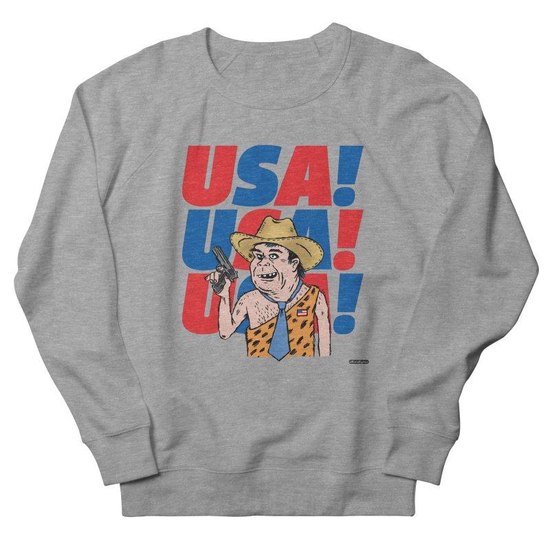 USA! USA! USA! Men's French Terry Sweatshirt by DRAWMARK