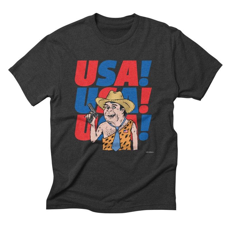 USA! USA! USA! Men's Triblend T-Shirt by DRAWMARK