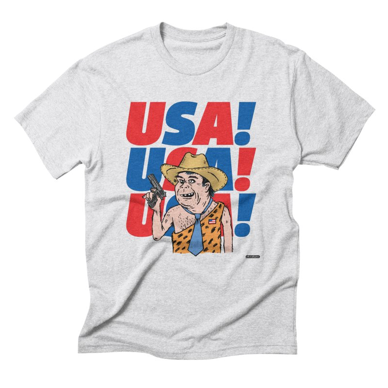 USA! USA! USA! Men's Triblend T-Shirt by DRAWMARK