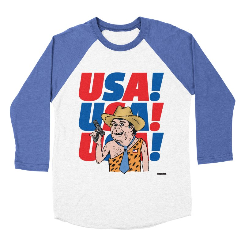 USA! USA! USA! Women's Baseball Triblend Longsleeve T-Shirt by DRAWMARK