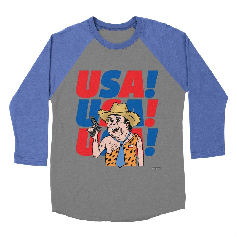 USA! USA! USA! Women's Baseball Triblend T-Shirt by DRAWMARK