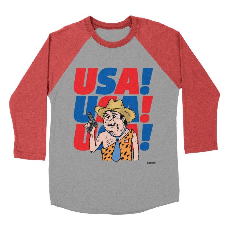 USA! USA! USA! Women's Baseball Triblend Longsleeve T-Shirt by DRAWMARK