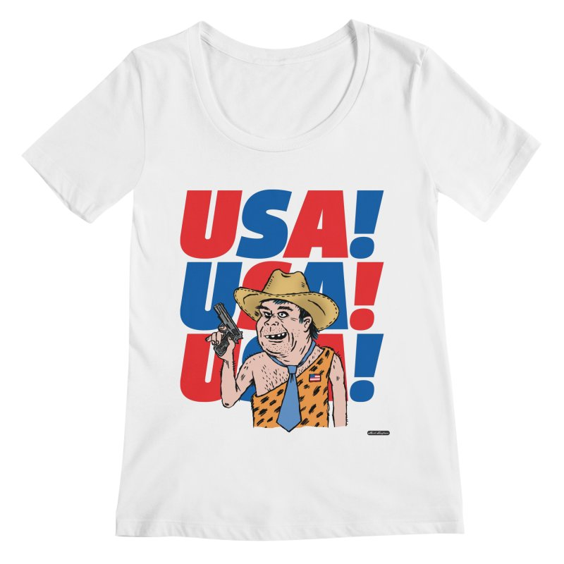 USA! USA! USA! Women's Regular Scoop Neck by DRAWMARK