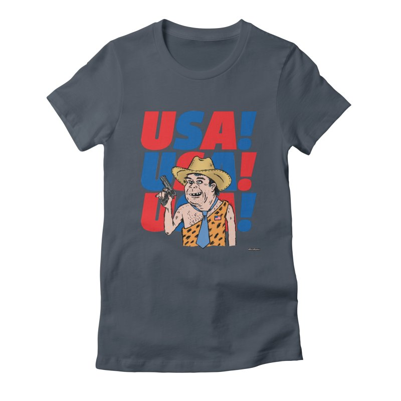 USA! USA! USA! Women's T-Shirt by DRAWMARK