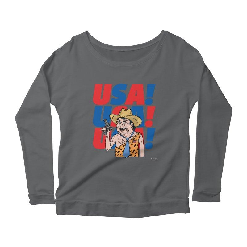USA! USA! USA! Women's Longsleeve T-Shirt by DRAWMARK