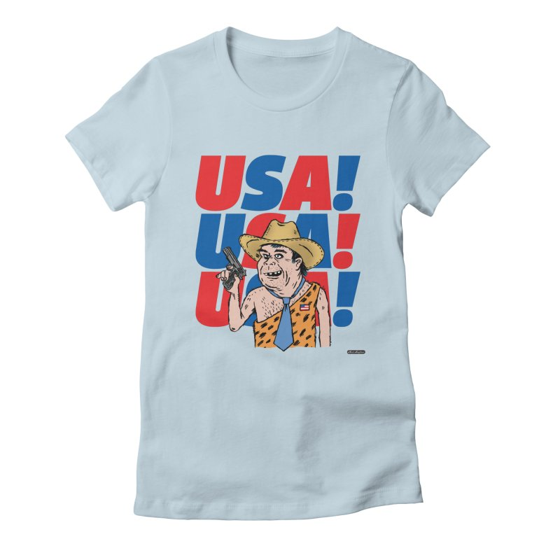 USA! USA! USA! Women's Fitted T-Shirt by DRAWMARK