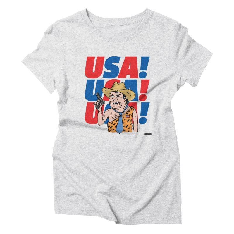 USA! USA! USA! Women's Triblend T-Shirt by DRAWMARK
