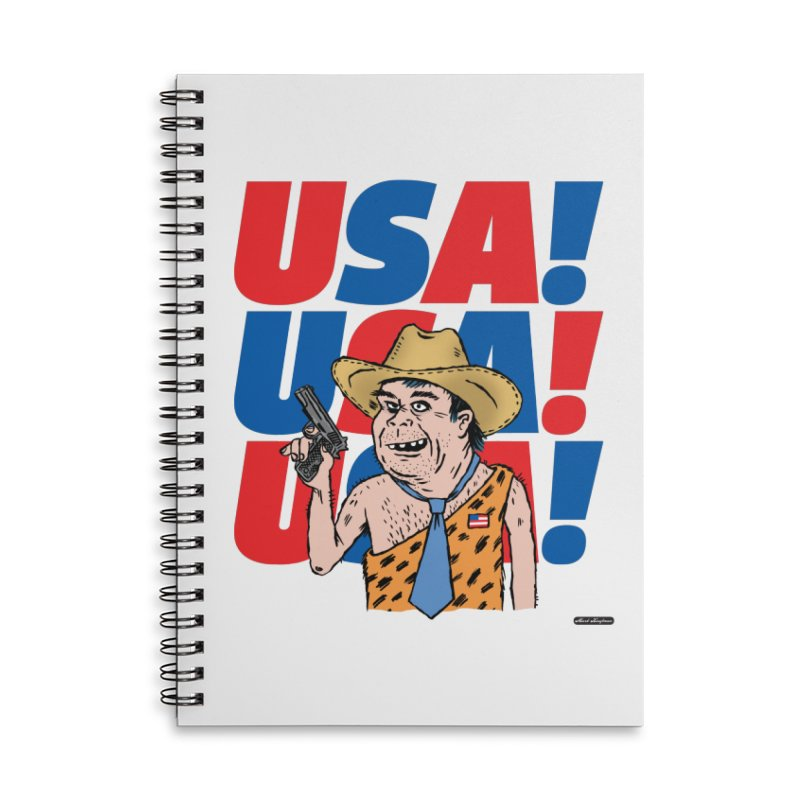 USA! USA! USA! Accessories Lined Spiral Notebook by DRAWMARK