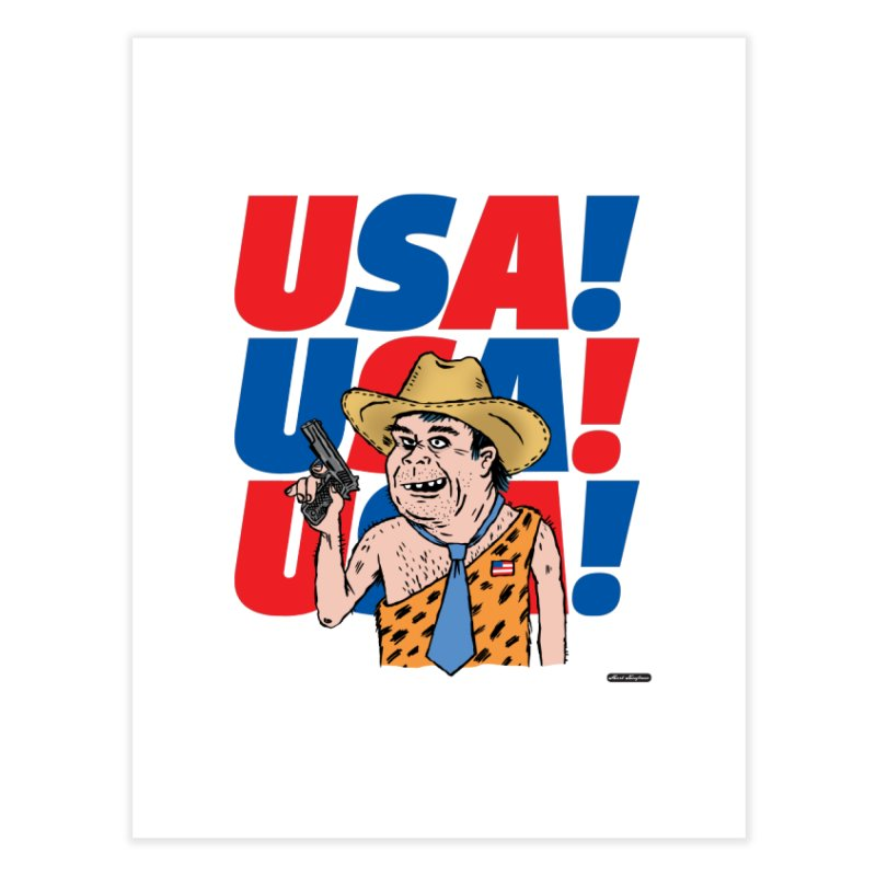 USA! USA! USA! Home Fine Art Print by DRAWMARK