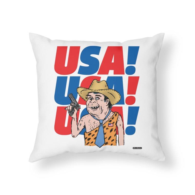 USA! USA! USA! Home Throw Pillow by DRAWMARK