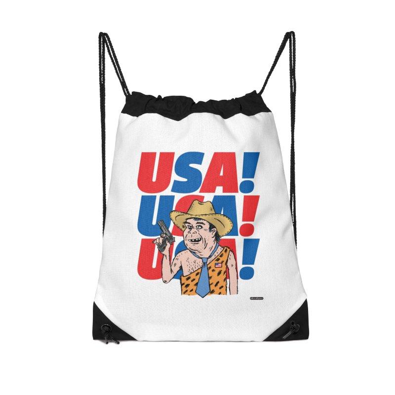 USA! USA! USA! Accessories Drawstring Bag Bag by DRAWMARK
