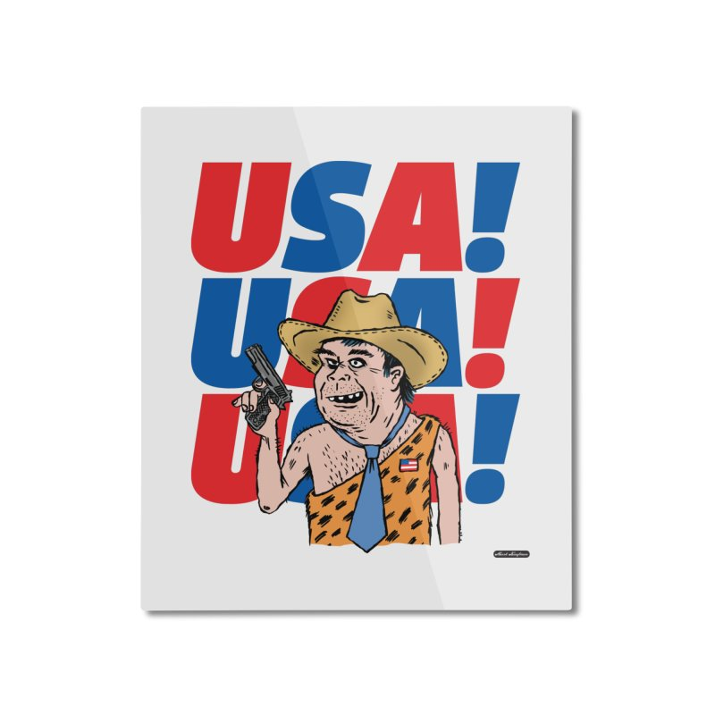 USA! USA! USA! Home Mounted Aluminum Print by DRAWMARK