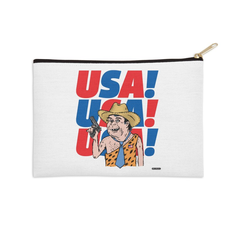 USA! USA! USA! Accessories Zip Pouch by DRAWMARK