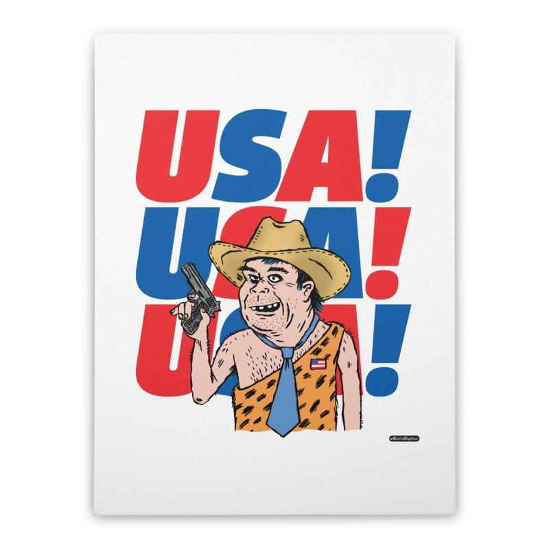 USA! USA! USA! Home Stretched Canvas by DRAWMARK