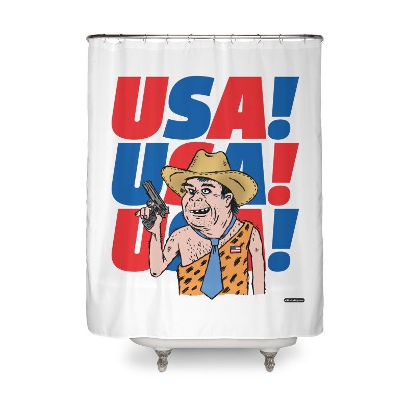 USA! USA! USA! Home Shower Curtain by DRAWMARK