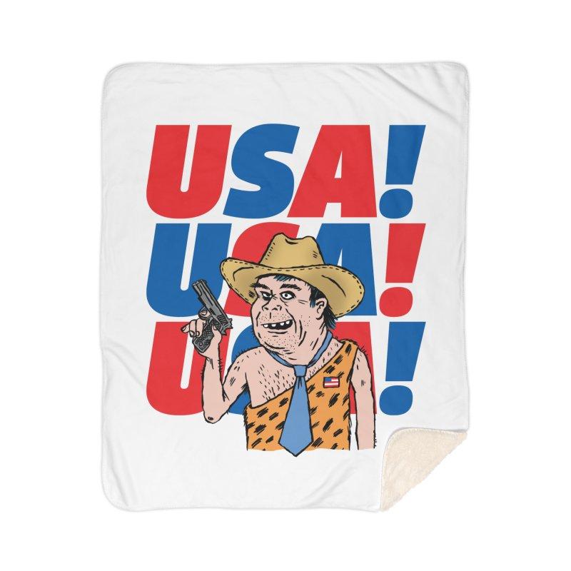 USA! USA! USA! Home Sherpa Blanket Blanket by DRAWMARK