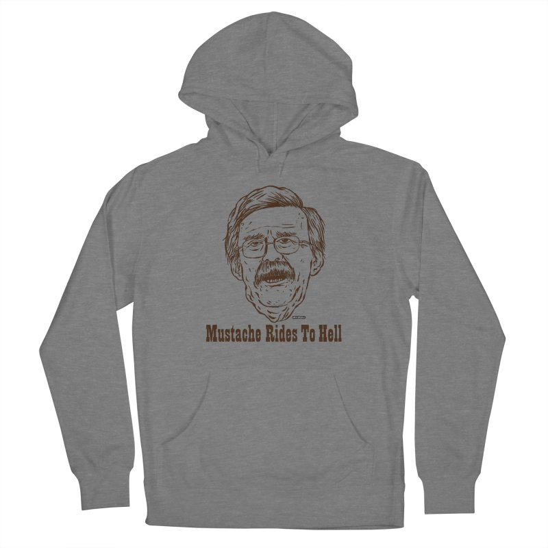 John Bolton - Mustache Rides To Hell Women's French Terry Pullover Hoody by DRAWMARK