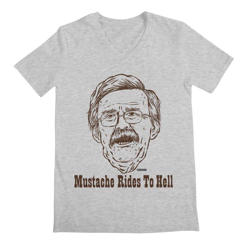John Bolton - Mustache Rides To Hell Men's Regular V-Neck by DRAWMARK