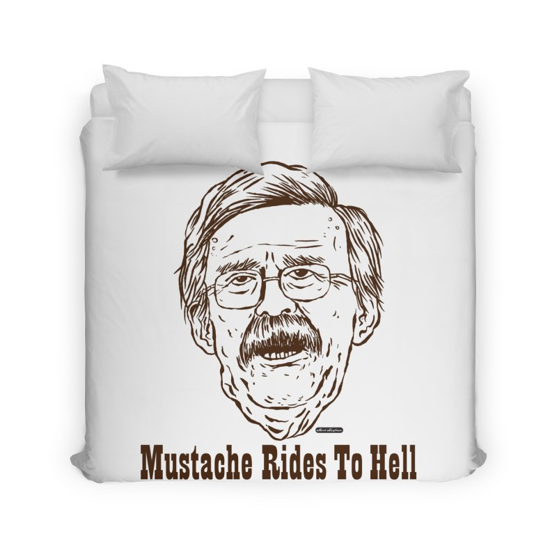 John Bolton - Mustache Rides To Hell Home Duvet by DRAWMARK