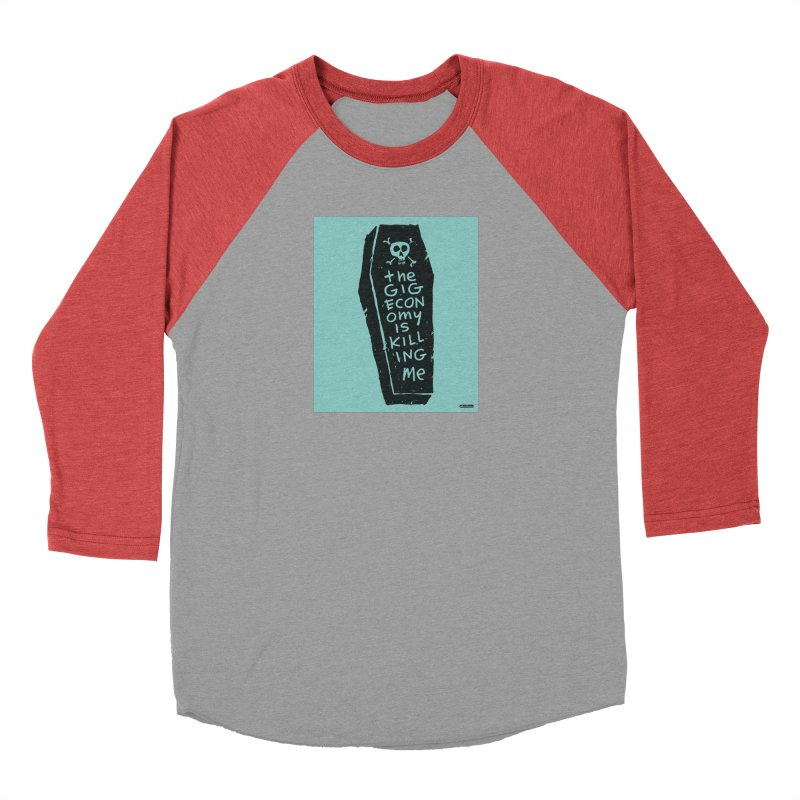 The Gig Economy is Killing Me / Green Men's Longsleeve T-Shirt by DRAWMARK
