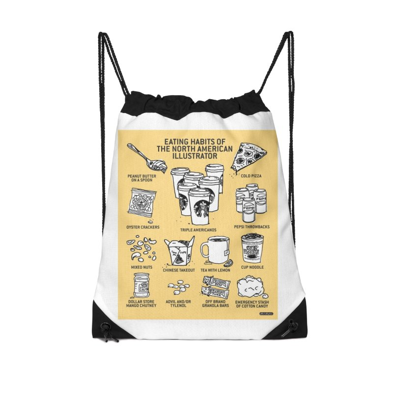 Eating Habits of the North American Illustrator Accessories Bag by DRAWMARK