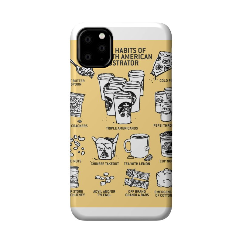 Eating Habits of the North American Illustrator Accessories Phone Case by DRAWMARK