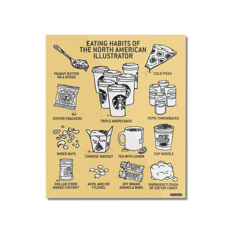Eating Habits of the North American Illustrator Home Mounted Acrylic Print by DRAWMARK