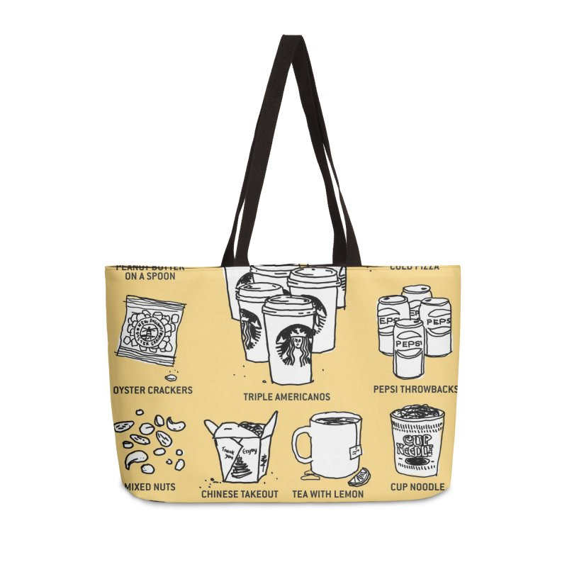 Eating Habits of the North American Illustrator Accessories Weekender Bag Bag by DRAWMARK