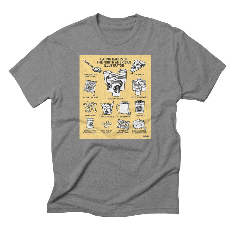 Eating Habits of the North American Illustrator Men's T-Shirt by DRAWMARK