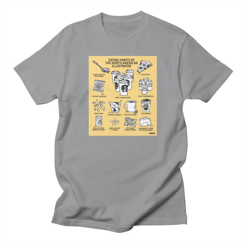 Eating Habits of the North American Illustrator Men's Regular T-Shirt by DRAWMARK