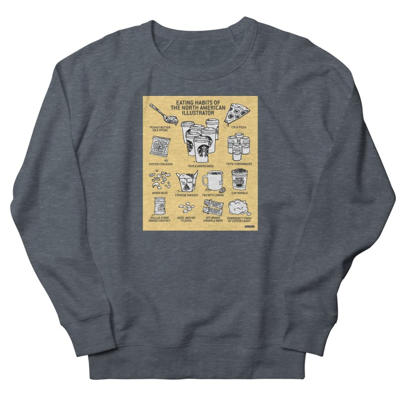 Eating Habits of the North American Illustrator Men's Sweatshirt by DRAWMARK